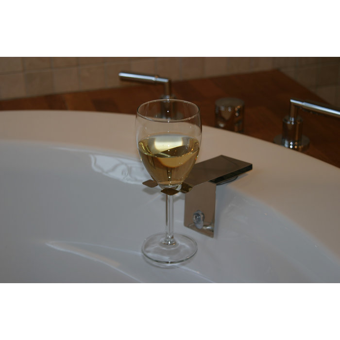 Bosign Suction Bath Wine Glass Holder Bath Accessory